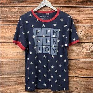 Pimpinjoy unisex Star Ringers T Shirt